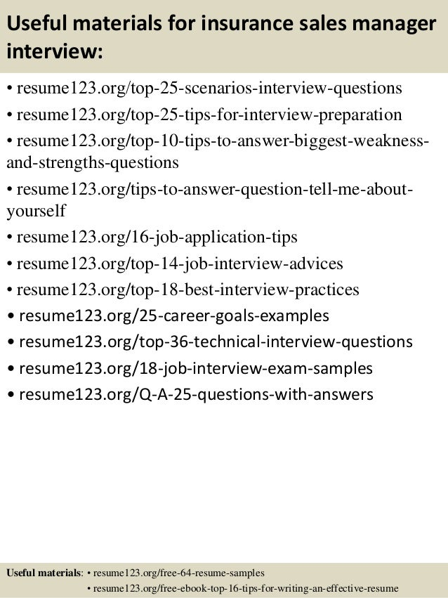 top 8 insurance sales manager resume samples