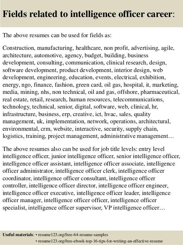 intelligence resume