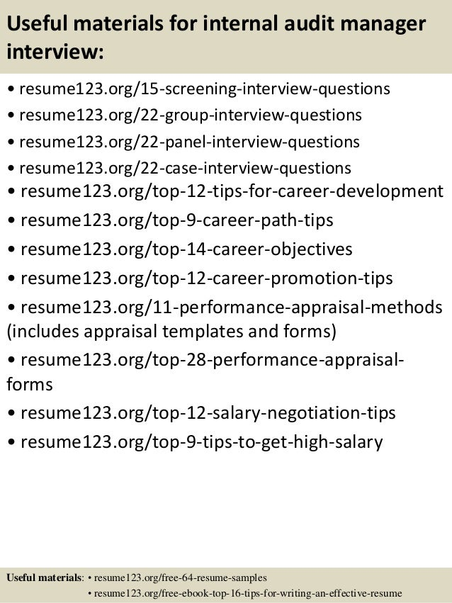 Top 8 internal audit manager resume samples – Internal Resume Examples