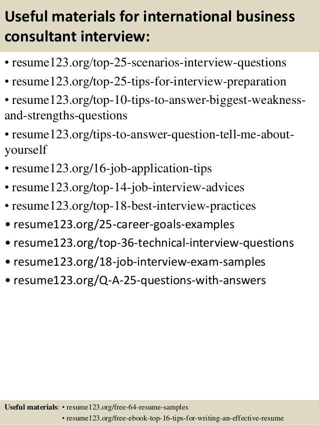 business consultant sample resume