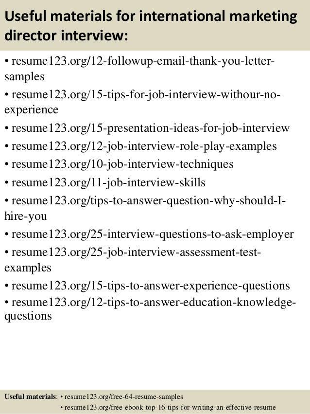 14 useful materials for international marketing director international marketing director job description - International Marketing Director Job Description