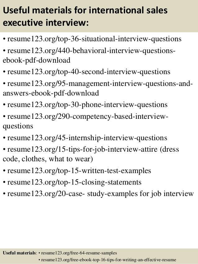 sales executive resume samples