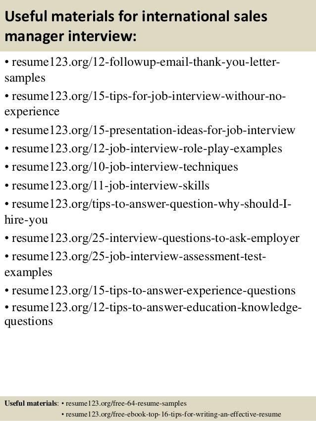 14 useful materials for international sales - International Sales Engineer Sample Resume