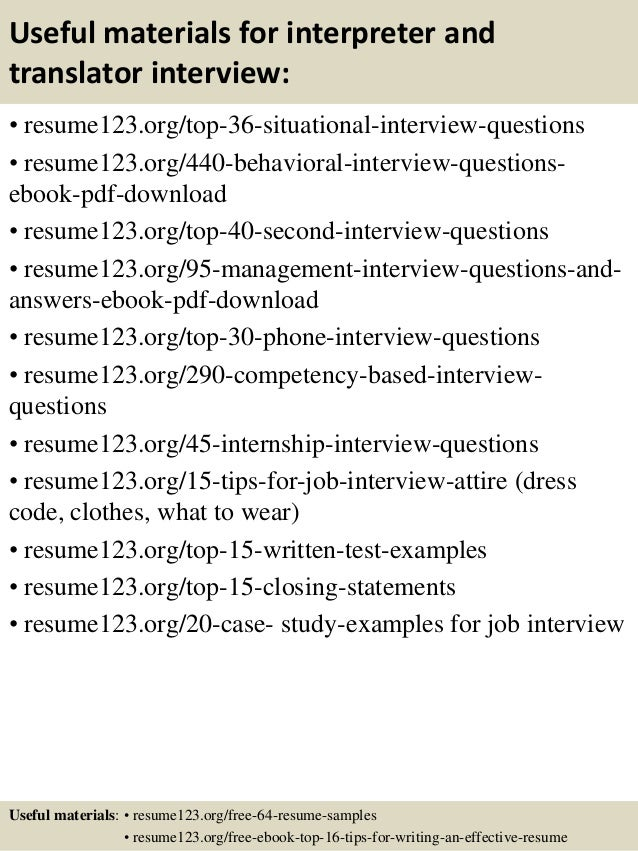 Top 8 interpreter and translator resume samples 12 yelopaper Image collections