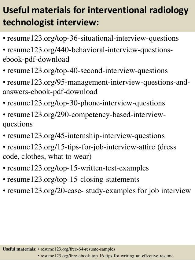 rad tech resumes