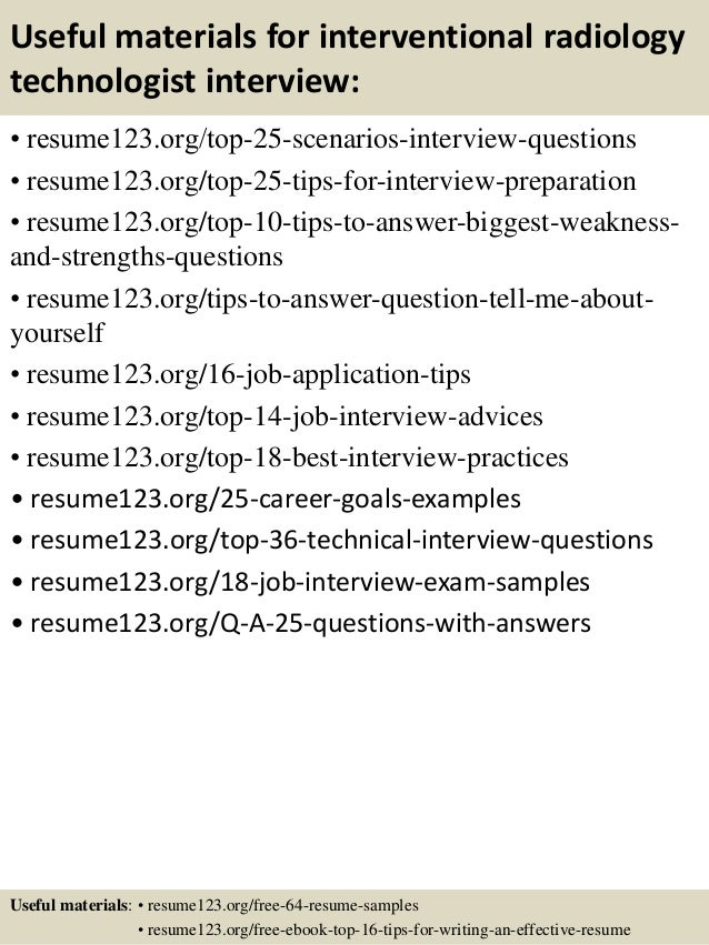 top 8 interventional radiology technologist resume samples - Sample Resume For Radiologic Technologist