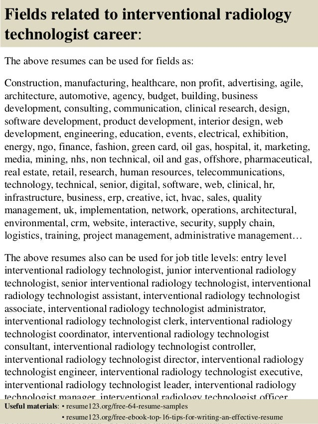radiology resume resume cv cover letter - Sample Resume For Radiologic Technologist