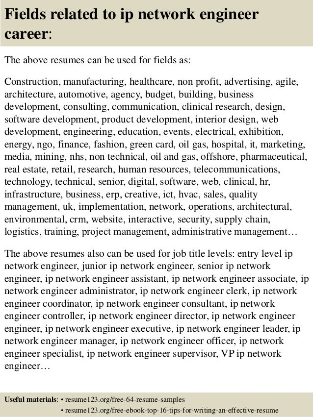 ... 16. Fields Related To Ip Network Engineer ...