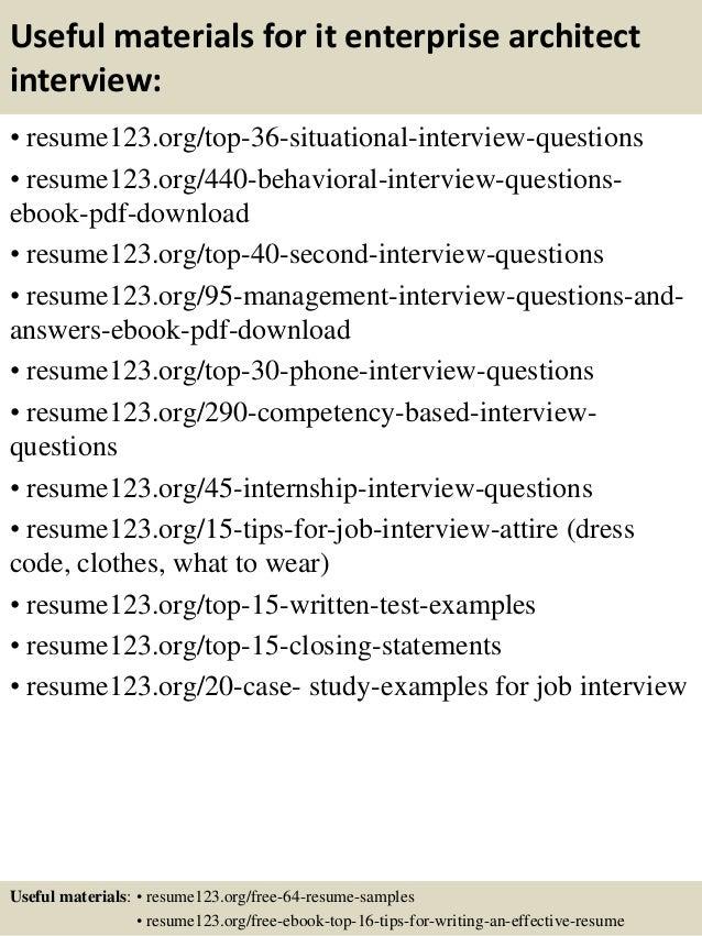 enterprise architect resume samples