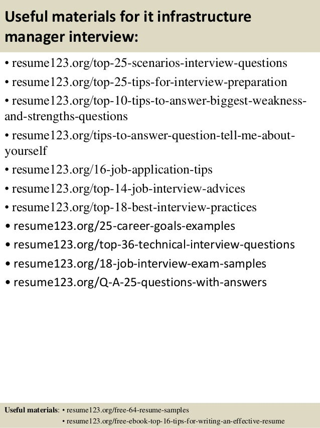 top 8 it infrastructure manager resume samples