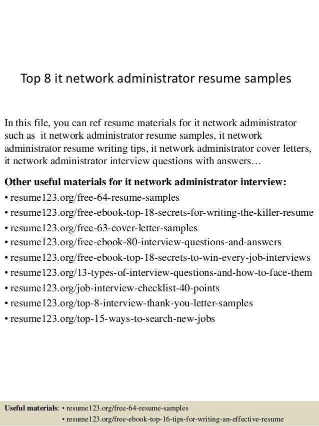 Cover Letter For Network Administrator. sample network administrator ...
