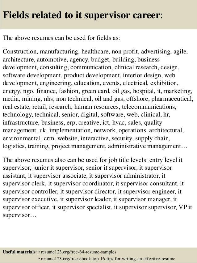 supervisor resumes