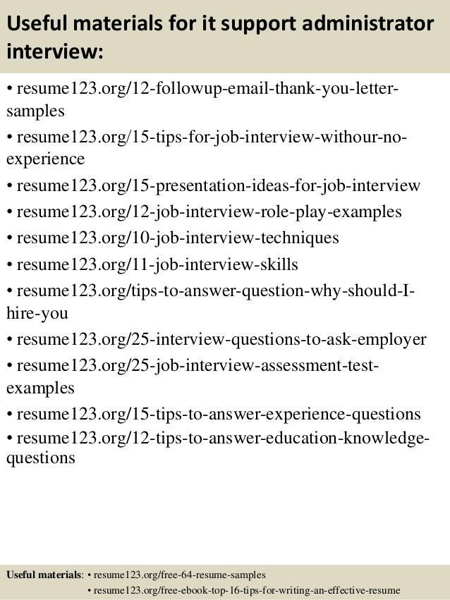 administrative sample resume