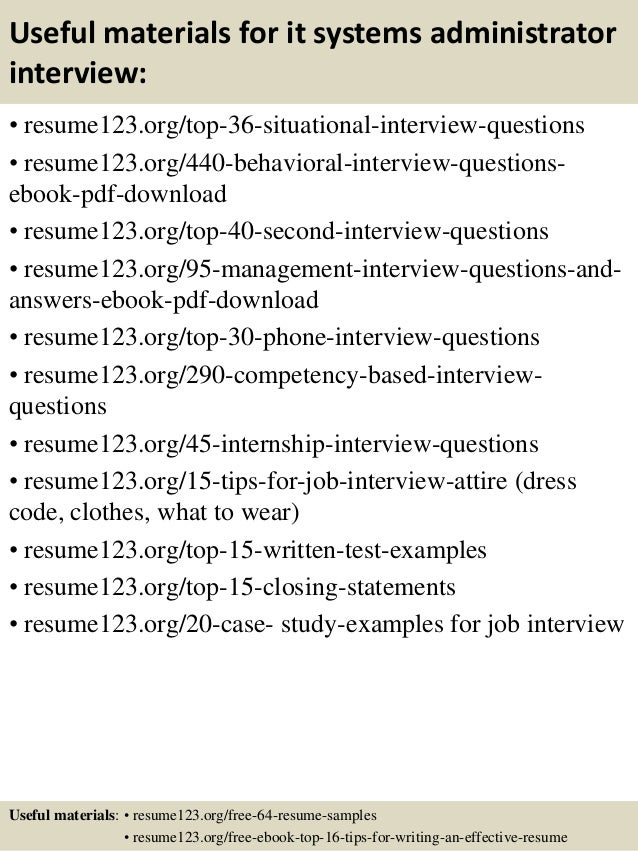 Resume Sample Resume Junior System Administrator top 8 it systems administrator resume samples 12 useful materials for administrator