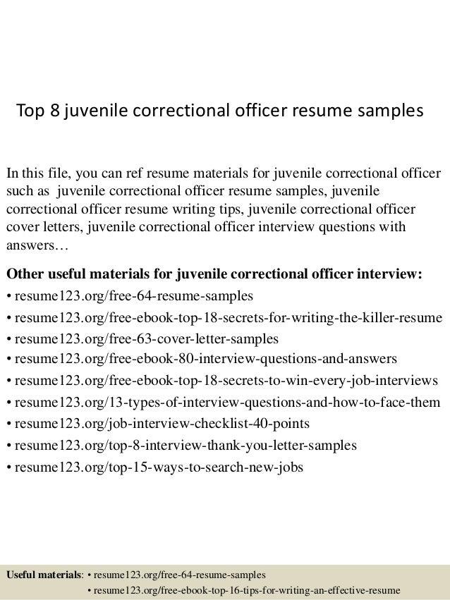 cover letter for juvenile correctional officer