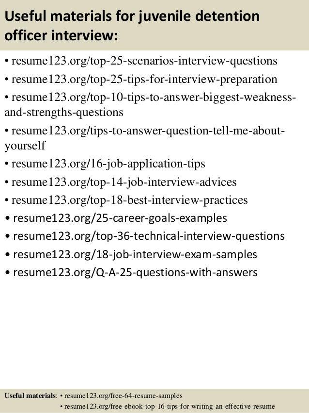 ... 13. Useful Materials For Juvenile Detention Officer ...