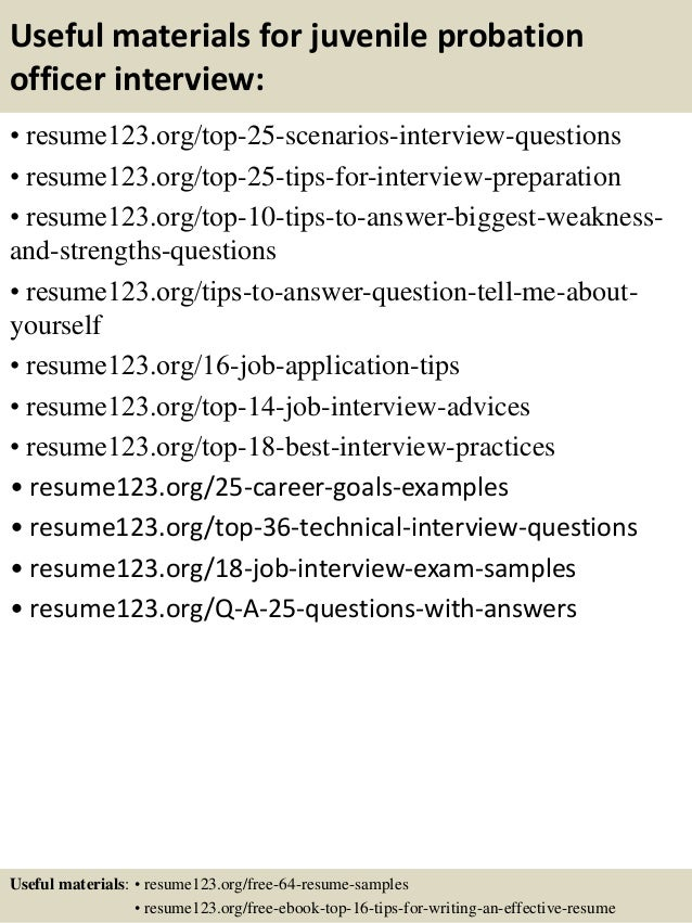 Top 8 juvenile probation officer resume samples – Probation Officer Resume Examples
