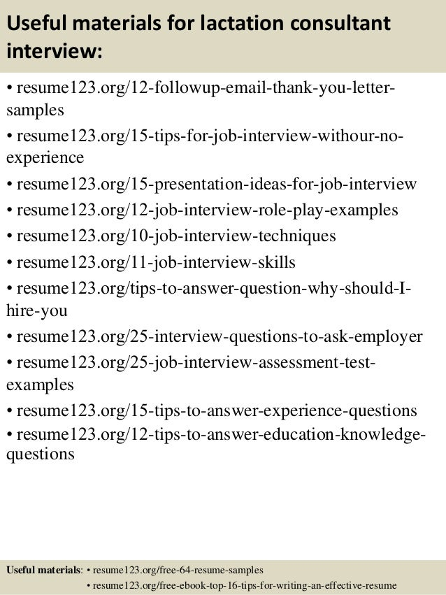14 useful materials for lactation consultant - Certified Lactation Consultant Sample Resume