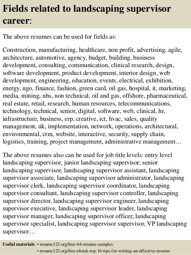 landscaping resume samples - Landscaping Resume Duties