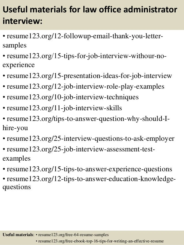 Top 8 law office administrator resume samples