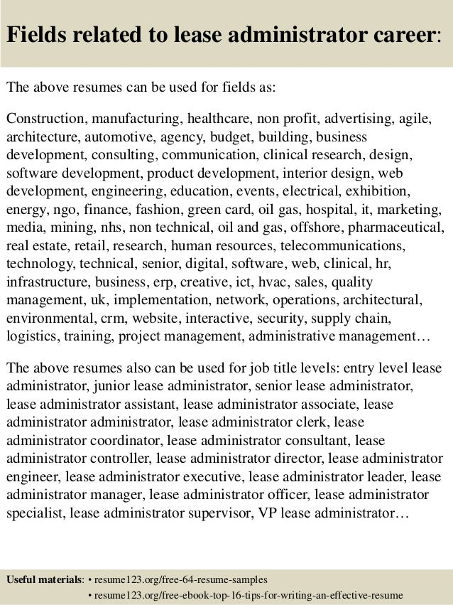 16 fields related to lease leasing professional resume - Sample Resume For Leasing Consultant