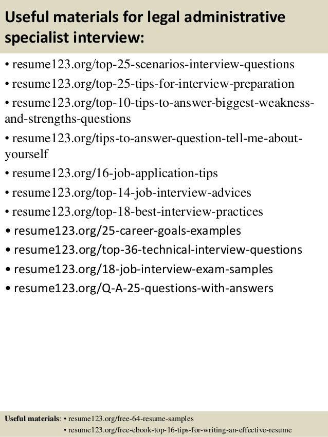 Administrative Specialist Resume