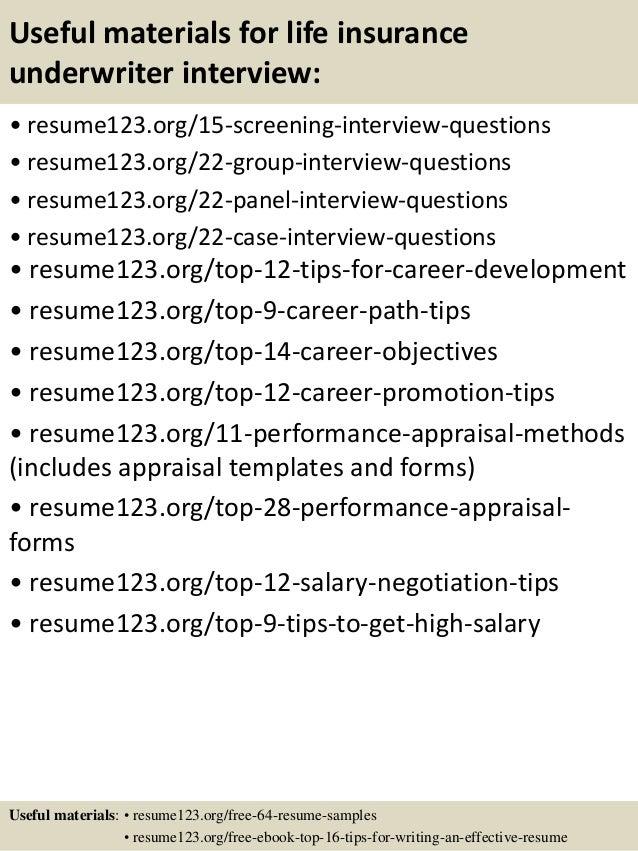 insurance underwriter resume samples