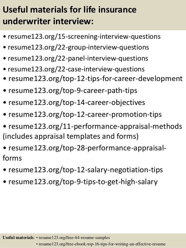 15 - Underwriter Resume Sample