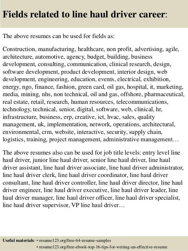 Train driver resume example