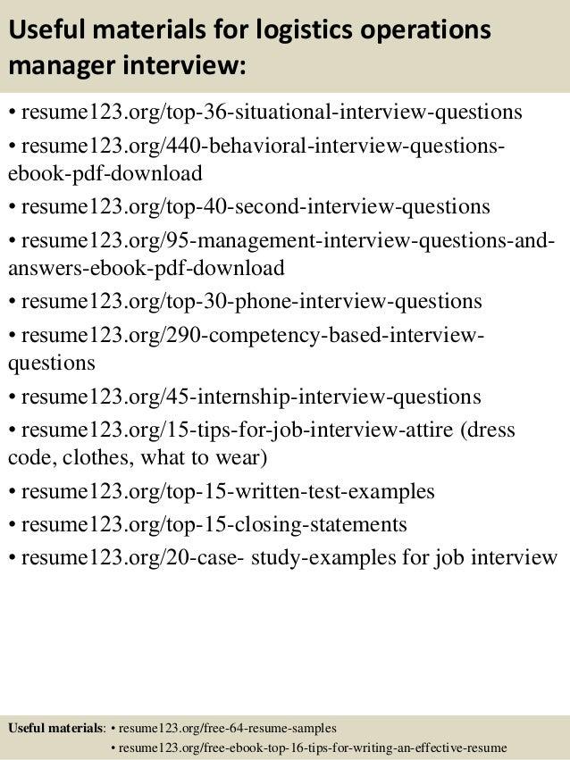 logistics resume