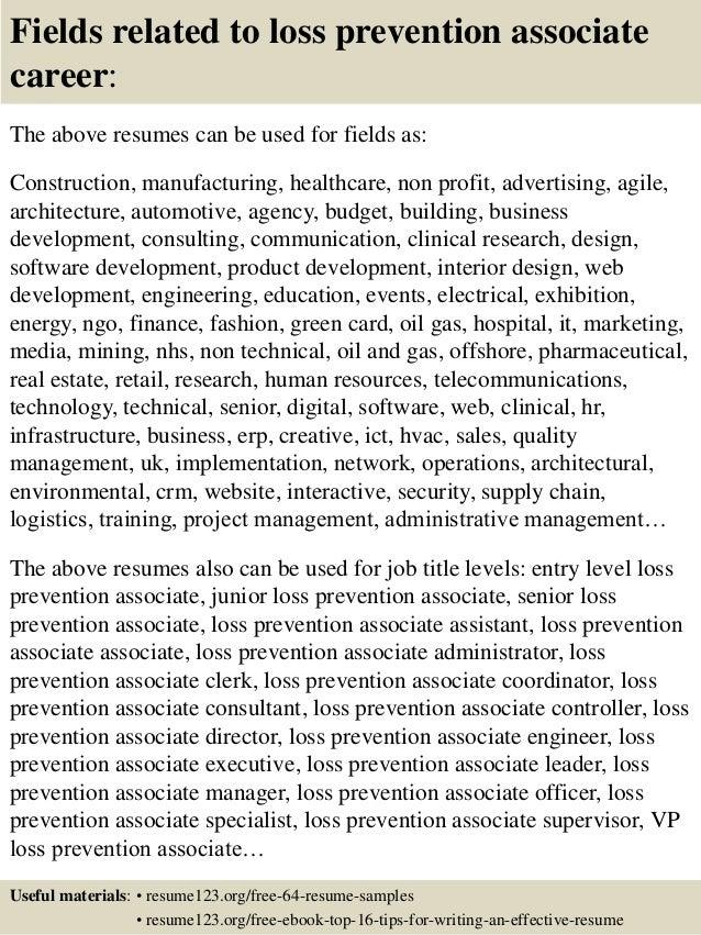 loss prevention resume sample