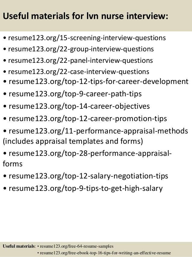 Top 8 lvn nurse resume samples