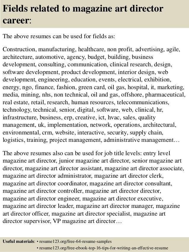 art director resume examples
