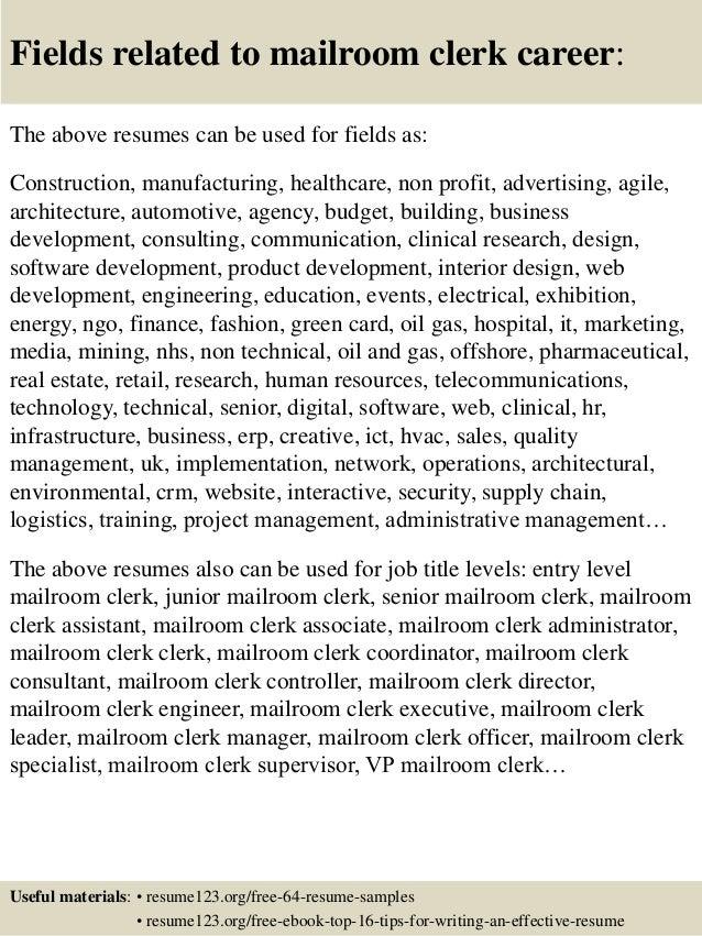 usps clerk resume mailroom clerk resume. 4 examples of a perfect ...