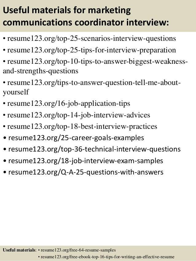 Resume marketing communications coordinator – Marketing Communications Coordinator