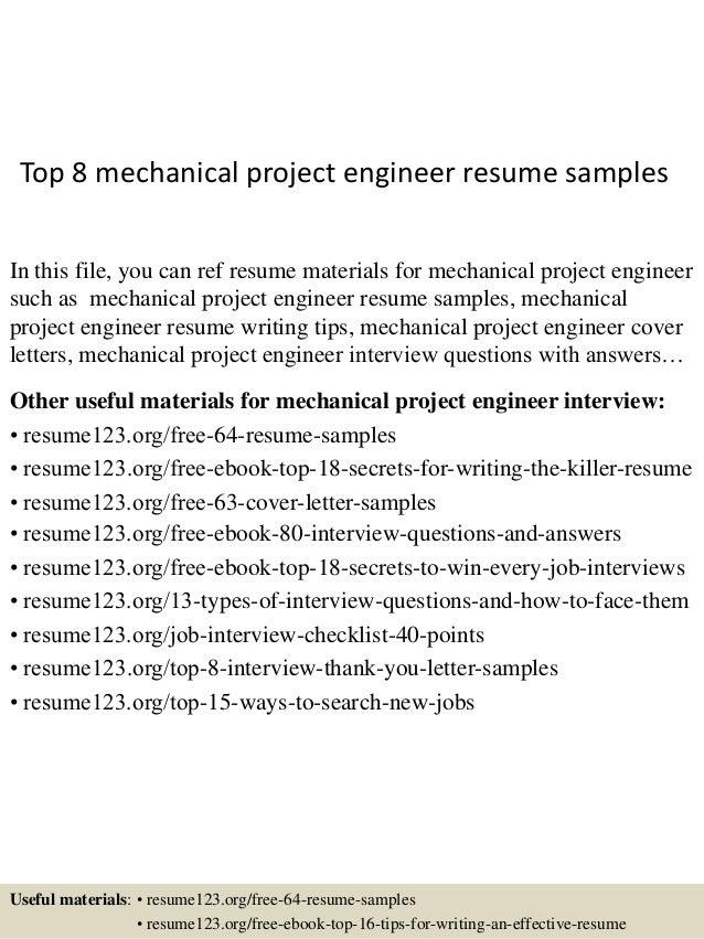 mechanical resume samples