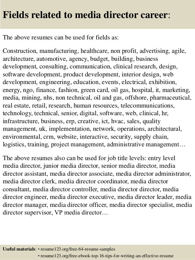 digital media director resume