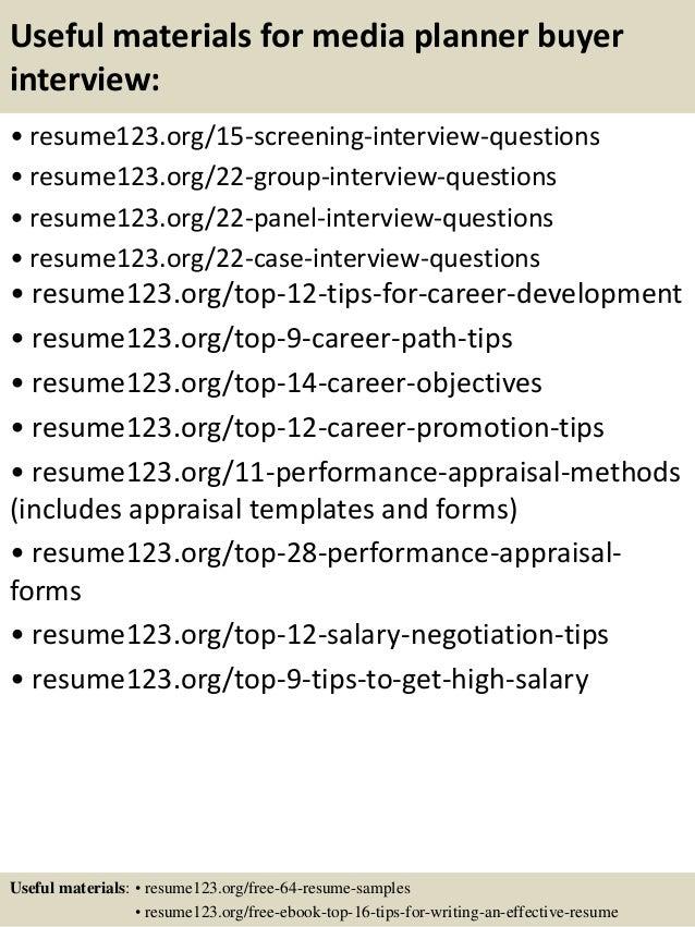 Top 8 media planner buyer resume samples