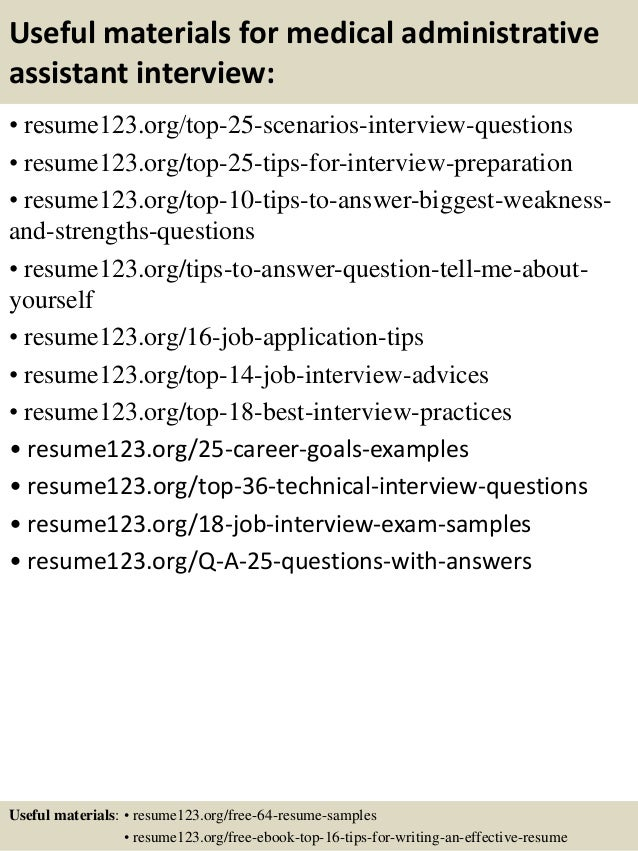 Top 8 medical administrative assistant resume samples – Medical Administrative Assistant Sample Resume