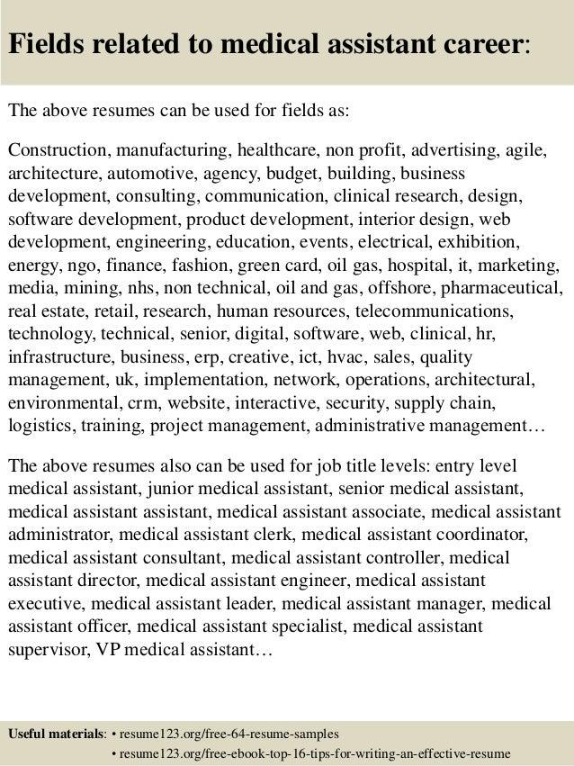 Top 8 Medical Assistant Resume Samples