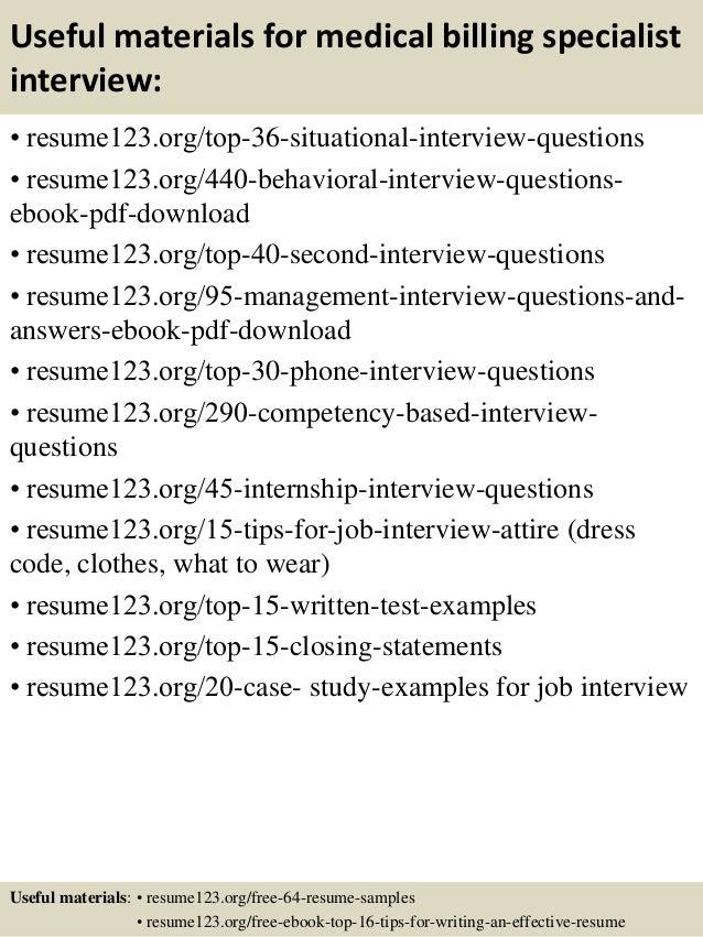 Top 8 medical billing specialist resume samples