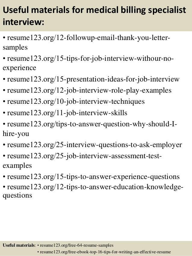 ... 14. Useful Materials For Medical Billing ...  Medical Billing Resume