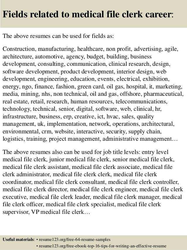 file clerk resumes - File Clerk Resume Sample