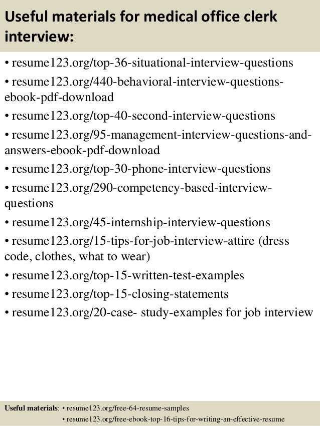 sample resume of office clerk