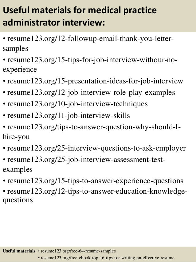 Top 8 medical practice administrator resume samples