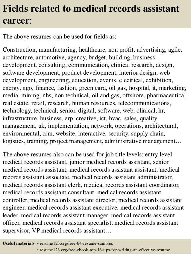 Resume Sample Receptionist Or Medical Assistant Random Break ...