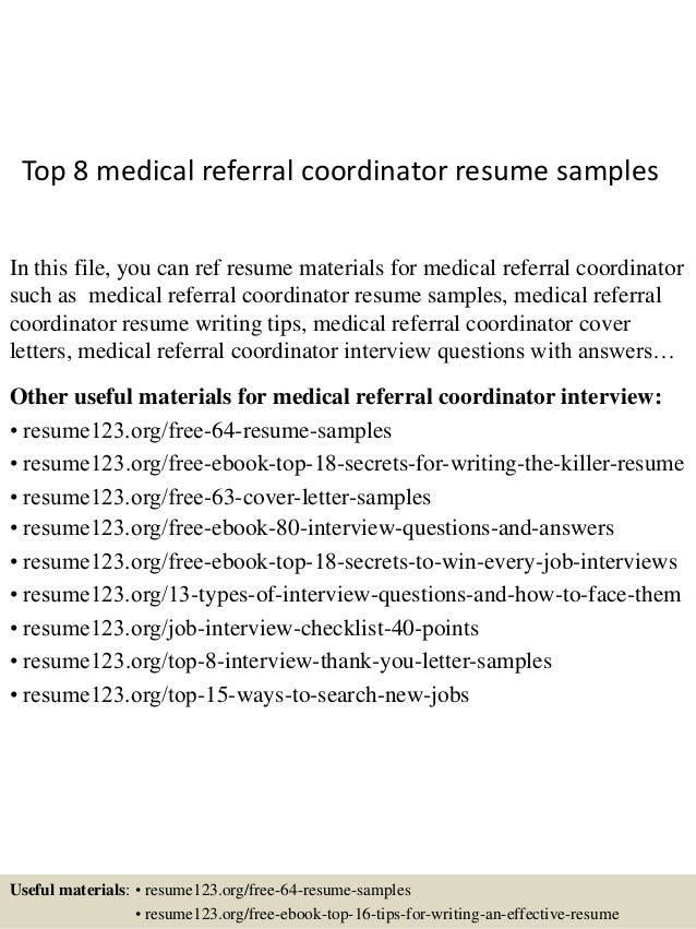 resume referrals
