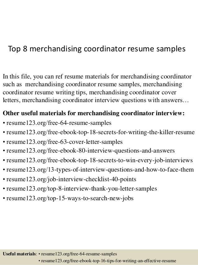 merchandise coordinator cover letter - Orgsan.celikdemirsan.com