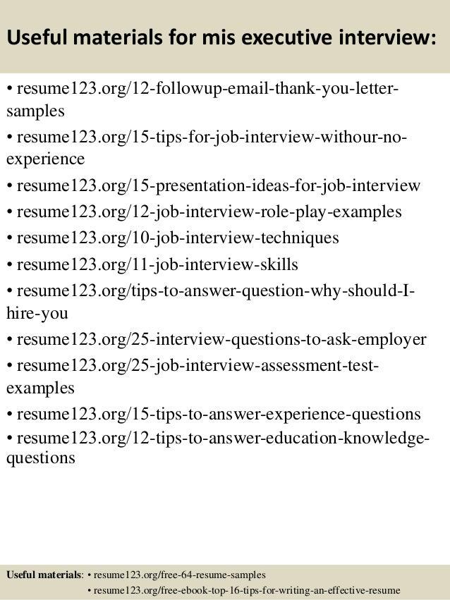 Top 8 mis executive resume samples – Mis Resume Sample