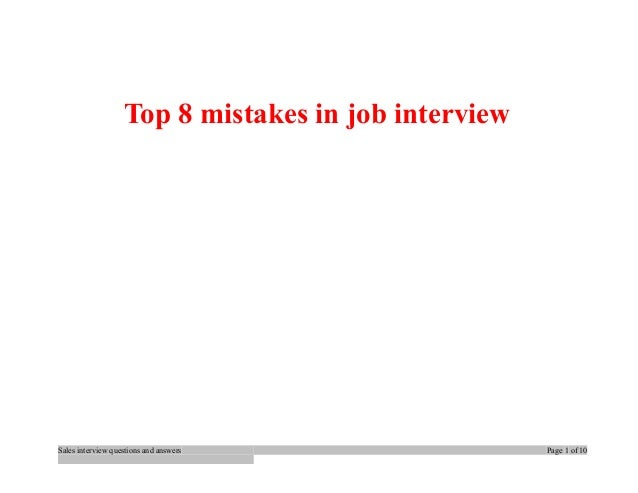 how to answer biggest mistake interview question